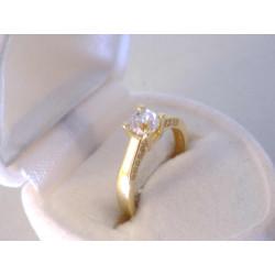 Dámsky zlatý prsteň žiarivé zirkóny DP50202Z žlté zlato 14 karátátov 585/1000 2,02 g