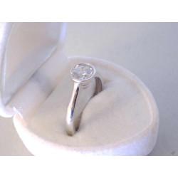 Jemný dámsky zlatý prsteň biele zlato zirkón DP56237B 14 karátov 585/1000 2,37 g