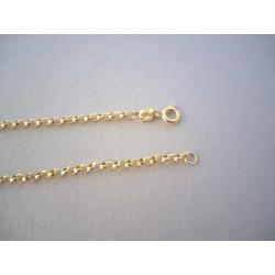 Dámska zlatá retiazka zaujímavé guľaté očká DR445318Z žlté zlato 14 karátov 585/1000 3,18 g