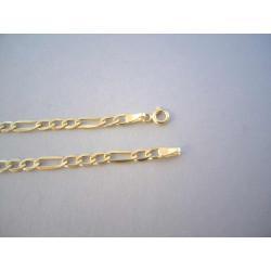 Zlatá retiazka pánska Figaro žlté zlato DR60406Z žlté zlato 14 karátov 585/1000 4,06 g