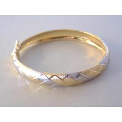 Dámsky zlatý náramok pevný viacfarebné zlato VN977V 14 karátov 585/1000 9,77 g