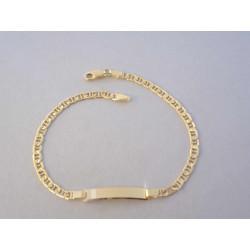 Pánsky zlatý náramok s Platničkou VN21334Z žlté zlato 14 karátov 585/1000 3,34 g