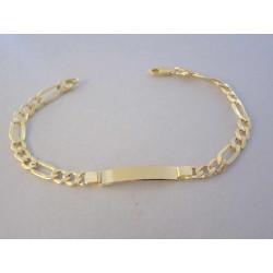 Mohutný pánsky zlatý náramok s Platničkou VN23786Z žlté zlato 14 karátov 585/1000 7,86 g