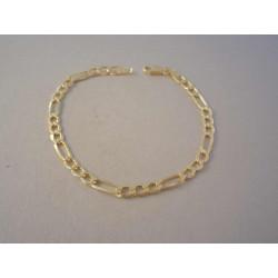 Zlatý náramok pánsky vzor Figaro mohutný vzhľad VN195256Z 14 karátov 585/1000 2,56 g