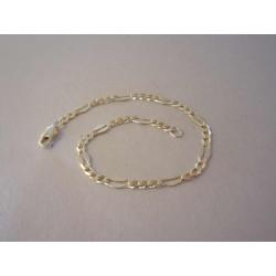 Zlatý náramok zaujímavé očká žlté zlato DN19324Z 14 karátov 585/1000 3,24 g
