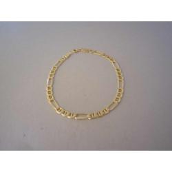 Zlatý náramok vzor Figaro VN205287Z žlté zlato 14 karátov 585/1000 2,87 g
