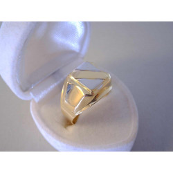 Pánsky zlatý prsteň viacfarebné zlato VP64438V 14 karátov 585/1000 4,38 g