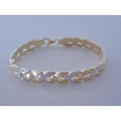 Elegantný dámsky zlatý náramok viacfarebné zlato VN19896V 14 karátov 585/1000 8,96 g