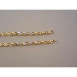 Zlatá dámska retiazka zaujímavé očká žlto biele zlato DR45779V 14 karátov 585/1000 7,79 g