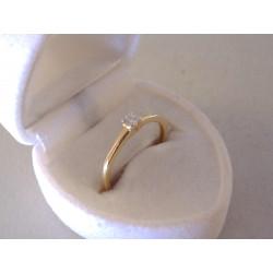 Briliantový dámsky prsteň VP53153Z žlté zlato 14 karátov 585/1000 1,53 g