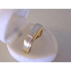 Zlatý diamantový pánsky prsteň podlhovastý viacfarebné zlato VP68684V 6,84 g