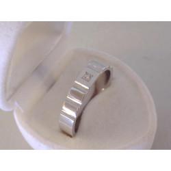 Zlatý Briliantový  pánsky prsteň , zárezy VP5665590B biele zlato 14  karátov 585/1000 5,90 g