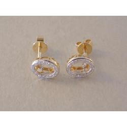 Zlaté dámske briliantové naušnice šrubovačky VA126Z žlté zlato 14 karátov 585/1000 1,26 g