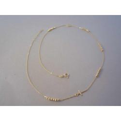 Zlatá dámska retiazka guličky,krížik,medajlón DR46303Z žlté zlato 14 karátov 585/1000 3,03 g