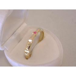 Zlatý dámsky prsteň ruženec žlté zlato farebný zirkón DP65424Z 14 karátov 585/1000 4,24 g