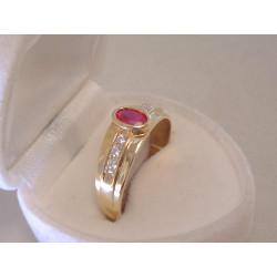 Zlatý dámsky prsteň zaujímavý vzhľad žlté zlato, zirkóny DP61310Z 14 karátov 585/1000 3,10 g
