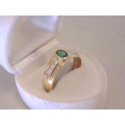 Zlatý dámsky výrazný prsteň žlté zlato ,zirkóny DP60340Z 14 karátov 585/1000 3,40 g