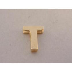 Zaujímavý prívesok UNISEX písmeno T DI039Z žlté zlato 14 karátov 585/1000 0,39 g