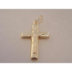 Zlatý prívesok Ježiš na kríži žlté zlato VI163Z 14 karátov 585/1000 1,63 g