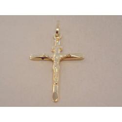 Zlatý Prívesok Ježiš na kríži UNISEX VI090Z žlté zlato 14 karátov 585/1000 0,90 g
