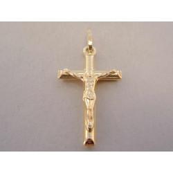 Zlatý prívesok Kríž s Ježišom VI124Z žlté zlato 14 karátov 585/1000 1,24 g