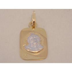 Zlatý prívesok svätá Ježišova tvár VI109V viacfarebné zlato 14 karátov 585/1000 1,09 g