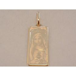 Zlatý dámsky prívesok Panna Mária VI083Z žlté zlato 14 karátov 585/1000 0,83 g