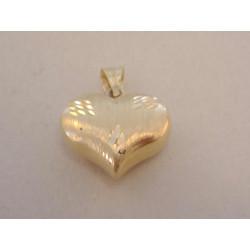 Zlatý dámsky prívesok Srdiečko jemný vzor VI122Z žlté zlato 14 karátov 585/1000 1,22 g