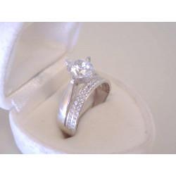 Výrazný dámsky strieborný prsteň veľký zirkón v korunke VPS56275 925/1000 2,75 g