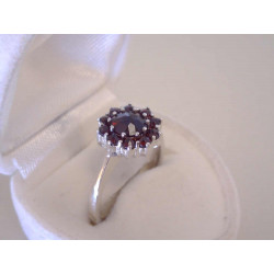 Strieborný dámsky prsteň český granát VPS57331 925/1000 3,31 g