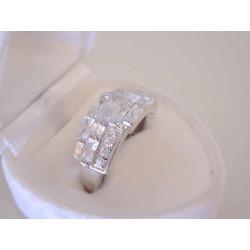 Strieborný dámsky prsteň žiarivý číry zirkón VPS54451 925/1000 4,51 g