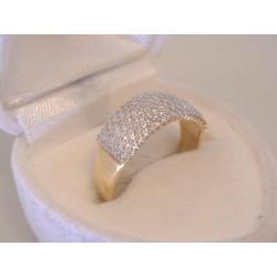 Zlatý dámsky prsteň žlté zlato zirkóny VP53248Z 14 karátov 585/1000 2,48 g