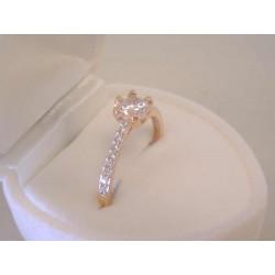 Zlatý dámsky prsteň červené zlato zirkón v korunke VP53172C 14 karátov 585/1000 1,72 g