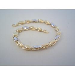 Zlatý výrazný náramok viacfarebné zlato jemný vzor VN22626V 14 karátov 585/1000 6,26 g