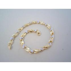Zaujímavý zlatý náramok viacfarebné zlato VN215431V 14 karátov 585/1000 4,31 g