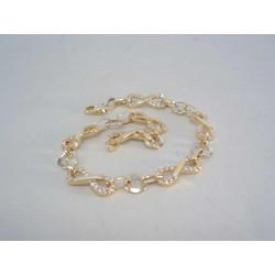 Zlatý dámsky náramok s Nekonečnom,kamienky zirkónu DN185611Z žlté zlato 14 karátov 585/1000 6,11 g