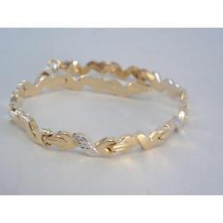 Zlatý dámsky náramok vzorovaný viacfarebné zlato VN19485V 14 karátov 585/1000 4,85 g