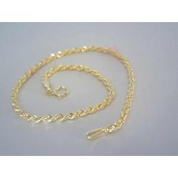 Zlatý dámsky náramok točený žlté zlato VN195106Z 14 karátov 585/1000 1,06 g