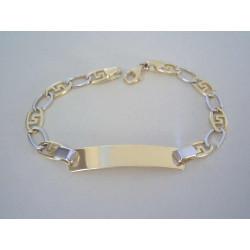 Zlatý detský náramok s platničkou viacfarebné zlato VN145446V 14 karátov 585/1000 4,46 g