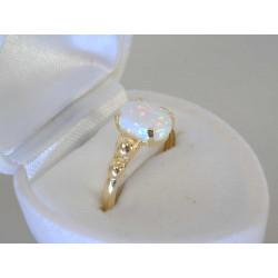 Zlatý prsteň dámsky biely opal VP55184Z 14 karátov 585/1000 1,84g