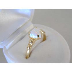 Zlatý dámsky prsteň opálové srdiečko VP57188Z žlté zlato 14 karátov 585/1000 1,88g