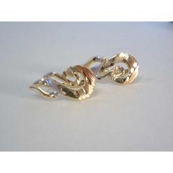 Zlaté dámske náušnice viacfarebné zlato DA199V 14 karátov 585/1000