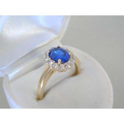 Dámsky zlatý prsteň so zirkónmi V56397Z žlté zlato 14 karátov 585/1000