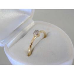 Jemný zlatý prsteň zirkón VD52103Z žlté zlato 14 karátov 585/1000