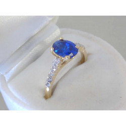 Dámsky zlatý prsteň D54278Z žlté zlato zirkón 14 karátov 585/1000 2,78g