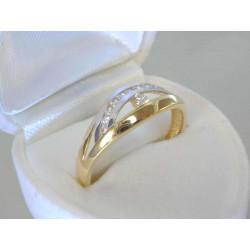 Dámsky zlatý prsteň zirkóny VDP63229V viacfarebné zlato 14 karátov 585/1000