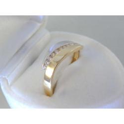 Zlatý dámsky prsteň zirkóny DP58203V viacfarebné zlato 14 karátov 585/1000 2,03g