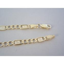 Zlatá pánska retiazka vzor FIGARO žlté zlato DR545577Z 14 karátov 585/1000