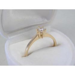Zlatý dámsky prsteň zirkón v korunke žlté zlato DP54172Z 14 karátov 585/1000 1,72g