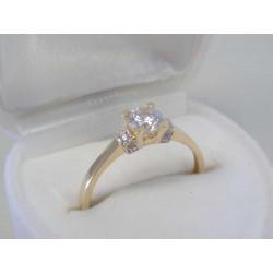 Zlatý dámsky prsteň žlté zlato číre zirkóny DP54178Z 14 karátov 585/1000 1,78 g